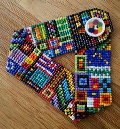 Loomed bracelet by Irene Koivu:
