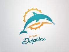 Miami Dolphins logo design by Fraser Davidson