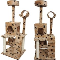 Grandiose Popular Size 52' Cat Tree Activities Condo Scratch Post Fun Toy Play Color Beige Paws * Details can be found by clicking on the image. (This is an affiliate link and I receive a commission for the sales)