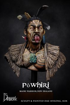 Maori Warrior in 1/9 scale resin from DG Artwork, now available! Click on the pic for more details and FREE Worldwide shipping on all orders of $90 or more