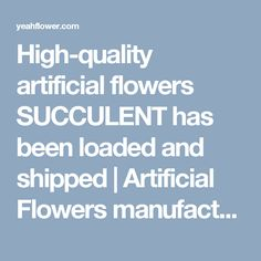 High-quality artificial flowers SUCCULENT has been loaded and shipped | Artificial Flowers manufacturers|Silk Flowers Suppliers|Dongguan Factory|Show Room