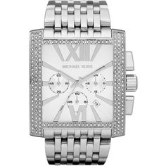 Michael Kors 'Gia' Chronograph Bracelet Watch Silver One Size found on Polyvore