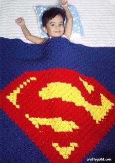 Superman Blanket - Free Crochet PatternFacebookGoogle+InstagramPinterestRSSTwitterYouTube