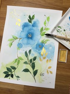 Daily art : leaves of green and gold | CeeCee on Patreon