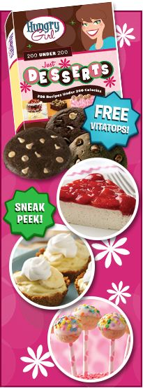 Hungry Girl Dessert Book Details, Kid-Friendly Recipes | Hungry Girl