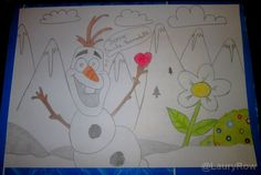 #olaf #snowman #frozen #disney #flowers @LauryRow       Like my page here :: https://www.facebook.com/merveillesdetentesdelaury