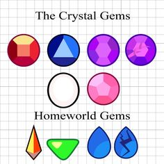 Steven Universe Gem Stickers Single Gems Only by TottsyCrafts