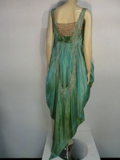 "Paul Poiret Style"" Teens Evening Dress w/ Cascading Train at 1stdibs"