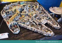 Lego Millenium Falcon with impressive indoor detail