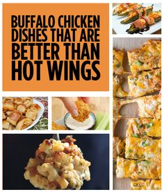 37 Super Bowl Snacks Better Than Hot Wings - Eating wings until you feel satisfied is hard and annoying. You know it's true. Here's how to better feed your buffalo sauce addiction. Buffalo Chicken Recipes, Chicken Snacks, Chicken Appetizers, Chicken Ideas, Snacks Für Party, Hot Snacks, Football Food, Game Day Food, I Love Food