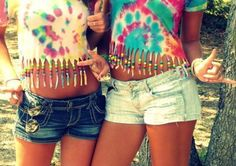 tie dye fringe shirts. Deff yes.