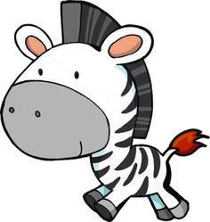 Zebra Cartoon Clip Art