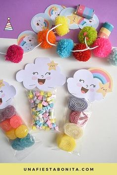 Ideas For Baby Shower Decoracion Arcoiris Rainbow Birthday Party, Baby Birthday, Birthday Parties, Cloud Party, Party Kit, Rainbow Baby, Student Gifts, Unicorn Party, Birthday Decorations