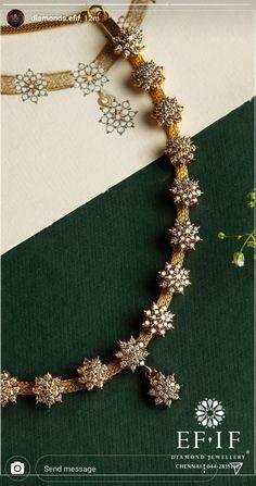 Jewerly Necklace Diamond Simple 17 Ideas - Cat`s Jewerly - Schmuck Diamond Necklace Simple, Diamond Jewelry, Gold Jewelry, Indian Diamond Necklace, Simple Necklace Designs, Diamond Choker, Diamond Necklaces, Gold Necklaces, Shell Jewelry