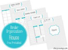 FREE Printables for your Home Management Binder!  House Binder