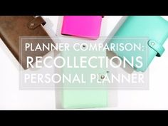 Planner Review & Comparison // Recollections, Color Crush, Filofax, Marion…