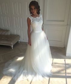 white long wedding dresses with appliques #weddingdresses