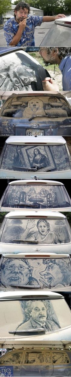 Dirty Car Art: Scott Wades schmutzige Autokunst