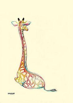 Nicely drawn art of a giraffe! Illustration Inspiration, Illustration Art, Picture Tattoos, Cool Tattoos, Tatoos, Fun Tattoo, Gorgeous Tattoos, Awesome Tattoos, Giraffe Tattoos