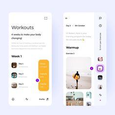 Tag and share with a friend. Workout Planner App, Fitness Planner, Ux Design, Media Design, Design Agency, Ui Design Inspiration, Daily Inspiration, Ui Design Mobile, Mobile Ui Patterns