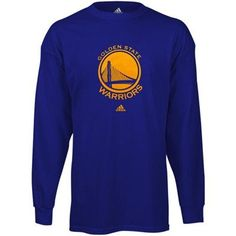 adidas Golden State Warriors Primary Logo Long Sleeve T-Shirt - Royal Blue