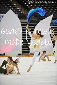 Color guard is music made visible!