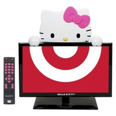 "HK |❣| HELLO KITTY 19"" Class 720p 60Hz LED TV/Monitor - Black/Pink/White (KT2219MBY) - Available at Target"