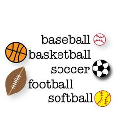 Free Sports Clipart for parties, crafts, school projects, websites and blogs!