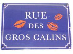 Plaque Métal Rue Des Gros Calins