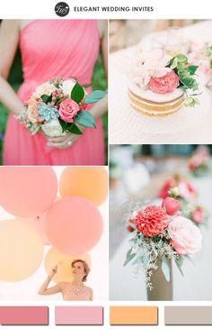 light coral strawberry ice and peach spring wedding color ideas 2015 #weddingcolors #elegantweddinginvites