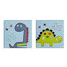 Bananafish® Little Dino 2-Piece Wall Art Set
