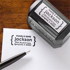 Personalized Self-Inking Address Stamp - Modern Address - 12223