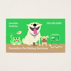 258 best pet care business cards images on pinterest business pet sitters business card green business card colourmoves