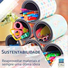 Uma ideia que você pode realizar junto com seus filhos: reciclar e organizar espaços de trabalho. #Sustentabilidade by rmeloconstrutora http://ift.tt/1sK2Qwc