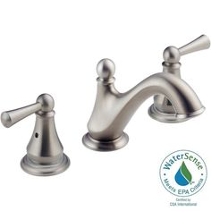 Delta Haywood 8 in. Widespread 2-Handle Bathroom Faucet with Metal Drain Assembly in Stainless-35999LF-SS - The Home Depot