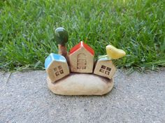 Miniature Houses clay houses ceramic house by potteryhearts