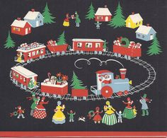 C388 Vintage Christmas Greeting Card  by Wallace by jarysstuff, $4.00