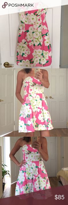 Lilly Pulitzer Pink, White and Green Sundress Size 6. Perfect condition. Worn once!  Lilly Pulitzer Dresses