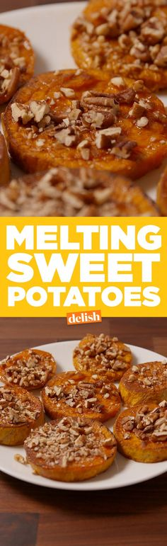 Melting Sweet Potatoes are so much better than sweet potato fries. Get the recipe on Delish.com.