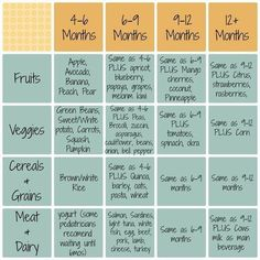 Baby Led Weaning Schedule - When To Start Introducing Different Finger Foods When Doing Baby Led Feeding