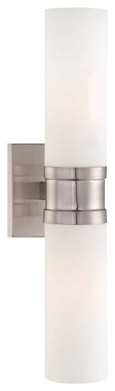 2-Light Wall Sconce, Brushed Nickel With Etched Opal Glass - Transitional - Wall Sconces - by Better Living Store Wall Sconce Lighting, Bathroom Lighting, Transitional Wall Sconces, Minka, Brushed Nickel, Opal, Wall Lights, Store, Glass