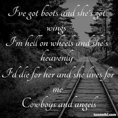"""-- #LyricArt for """"Cowboys and Angels"""" by Dustin Lynch"""