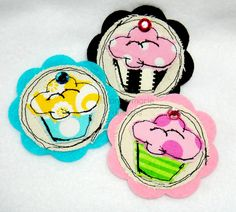 Shabby Cupcake Clippie by lilliannamariedesigns.com