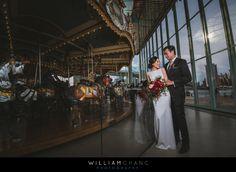 Dumbo Brooklyn Jane's Carousel wedding photos