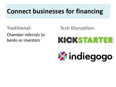 Learn How to Be a More Successful Business Traditional: Chamber events (Tech) Disruption: