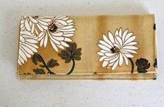Checkbook Cover | Fabric Checkbook Cover,  White Floral Checkbook | White and Tan Checkbook by Bags and Purses by Beth, $16.00 USD