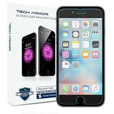 Tech Armor Premium Ballistic Tempered Glass Screen Protector for Apple iPhone 6 Plus, iPhone 7 Plus, iPhone 8 Plus - Clear Apple Iphone 6s Plus, Iphone 8 Plus, Iphone 6 Screen Protector, Best Screen Protector, Tempered Glass Screen Protector, Glass Protector, Iphone 6 Glass, Accessoires Iphone, Best Iphone
