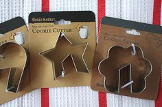 Balance on the edge of your mug cookie cutter..... WANT One of these.... anyone going to WORLD MARKET?  I need these.....