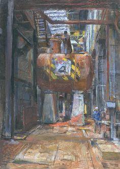 The Tank, Bankside Power Station - Anthony Eyton Turbine Hall, Andre Derain, Modern Times, Installation Art, Figurative Art, Art Sketches, Painting & Drawing, Giraffe, Modern Art
