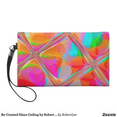 Re-Created Glass Ceiling by Robert S. Lee Wristlet Purse#Robert #S. #Lee #art #graphic #design #colors #bag #wristlet #purse #ladies #girls #women #love #style #fashion #accessory #for #her #gift #want #need #love #customizable